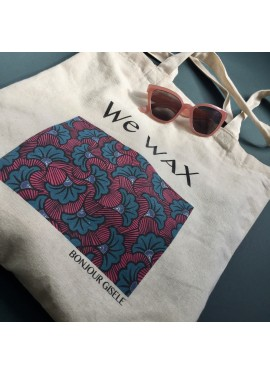 "TOTE BAG ""We WAX"" (colorful)"